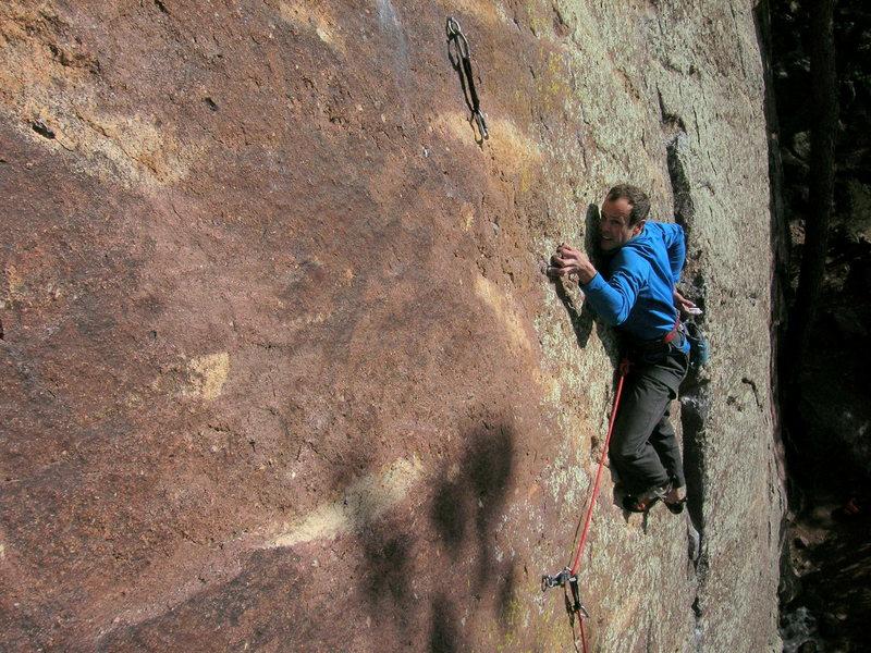 Rock Climbing Photo: Josh get'n' busy.