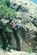 Rock Climbing Photo: 1978, Dynamo Hum.  I had to dig an ankle-wrecking ...