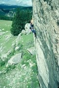 Rock Climbing Photo: Marsha working one of the very difficult routes pu...