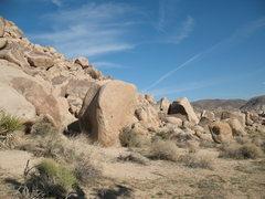 Rock Climbing Photo: Knuckleball Boulder, Joshua Tree NP