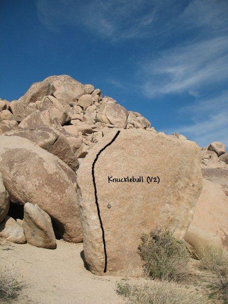 Knuckleball (V2), Joshua Tree NP