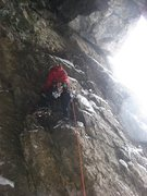 Rock Climbing Photo: Chris Sheridan climbing step rock on the first pit...