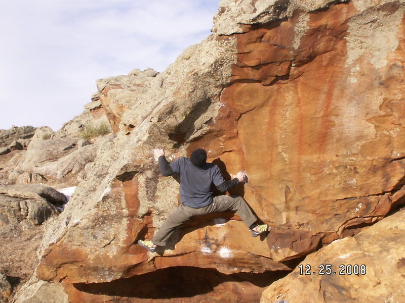 Rock Climbing Photo: pain in the glass - stateline boulders