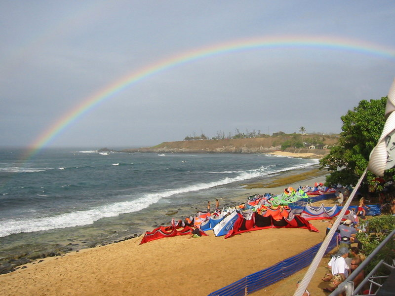 Rock Climbing Photo: Rainbow at Hookipa