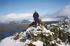 Rock Climbing Photo: Winter on the summit of Stac Pollaidh
