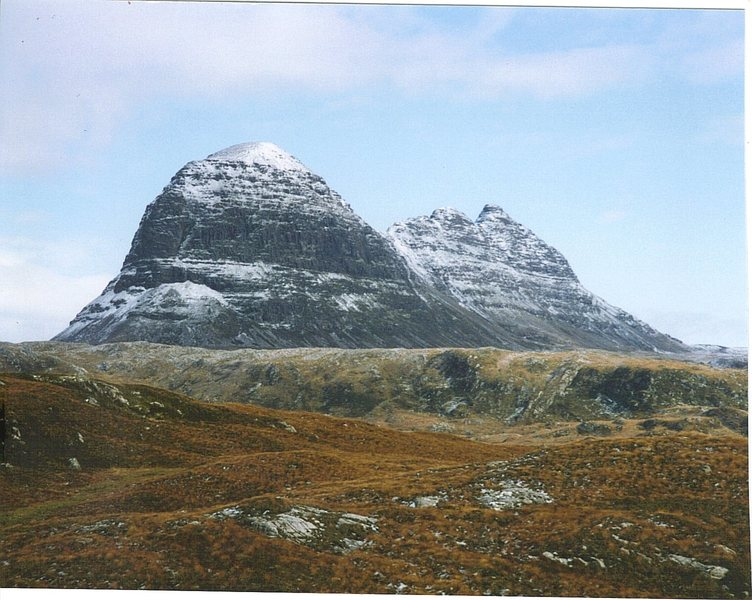The fine mountain of Sulivan,at Lochinver.