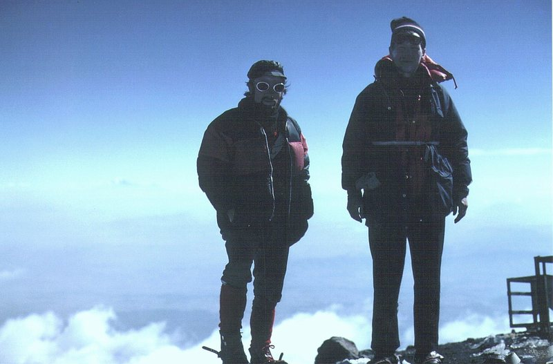 On the summit of Orizaba 1972