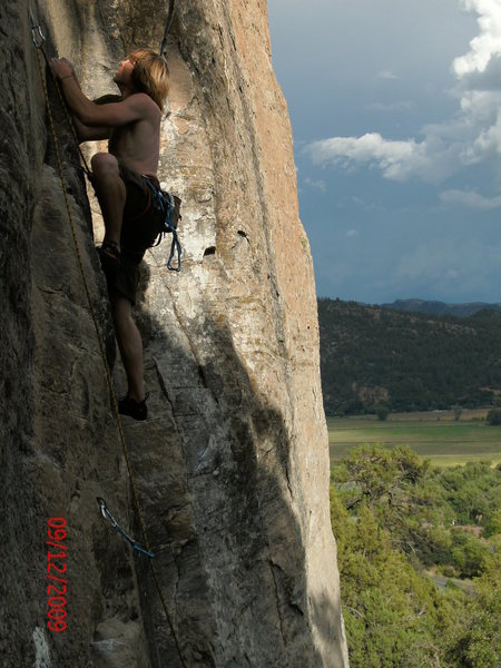Rock Climbing Photo: Gold Wall, sweet sport climb.