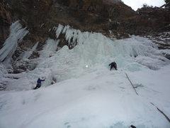 Rock Climbing Photo: The last pitch.  1-23-10.
