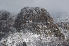 Rock Climbing Photo: West side of Hail Peak, in January 2010.  Photo ta...
