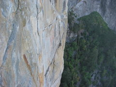 Rock Climbing Photo: Snapped this shot of a guy on p.5 while climbing W...