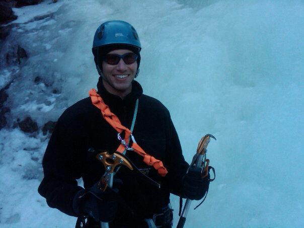 Climbing pose in Clear Creek Canyon, Colorado