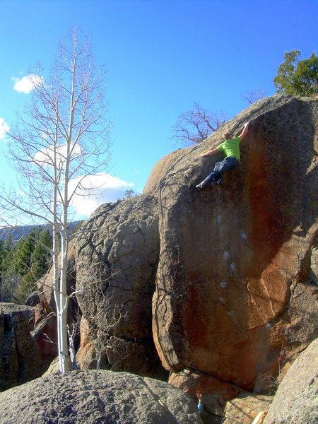 Rock Climbing Photo: Danny Mauz sending Fuzzy Tongue, Gloria's