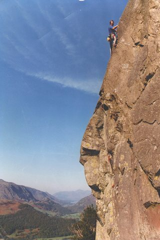 Paul Ross on the first ascent.