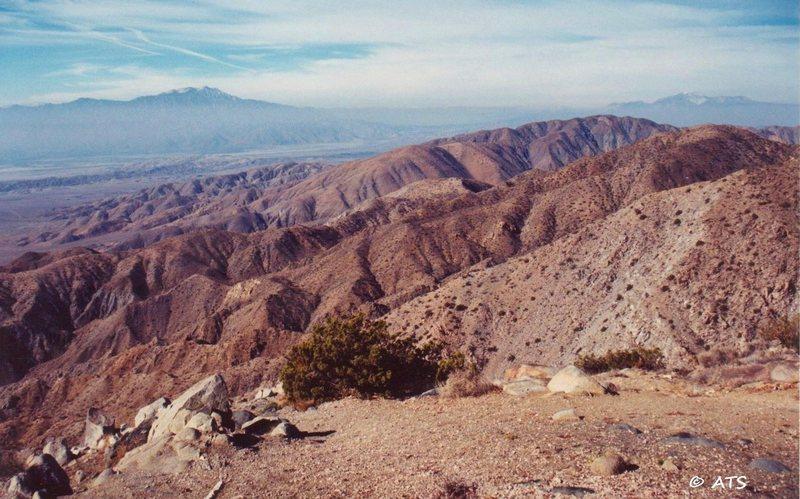Rock Climbing Photo: Key's View; Mt. San Jacinto (L) and San Gorgonio (...