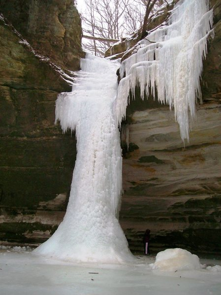 Ottowa ice on Jan.18, 2010. BUT still park has not opened it for climbing due to a warm spell.