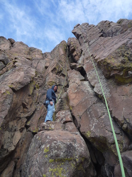 Rock Climbing Photo: Setting out on Redrum.