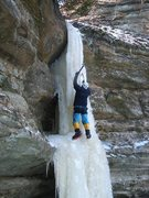 Rock Climbing Photo: The 'Ice Dagger', a climb in lower French Canyon. ...