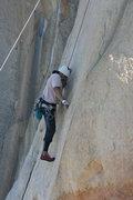 Rock Climbing Photo: Al on the English Smooth Sole Slab. 1-24-10