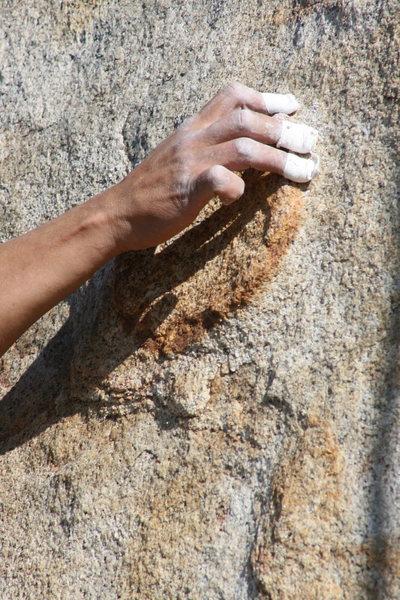 Rock Climbing Photo: That feels better. 1-24-10