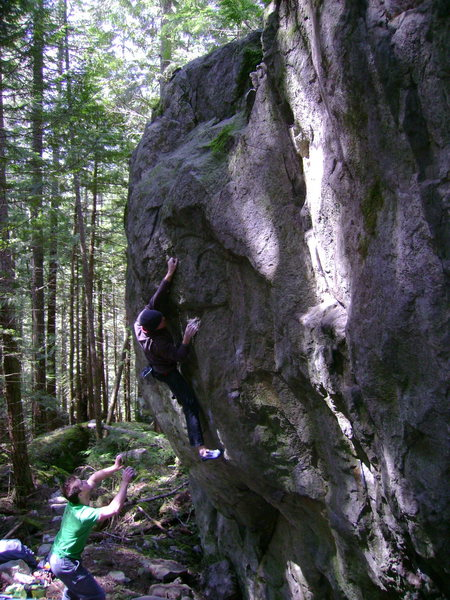 Rock Climbing Photo: Simon Villeneuve sending The Sphynx