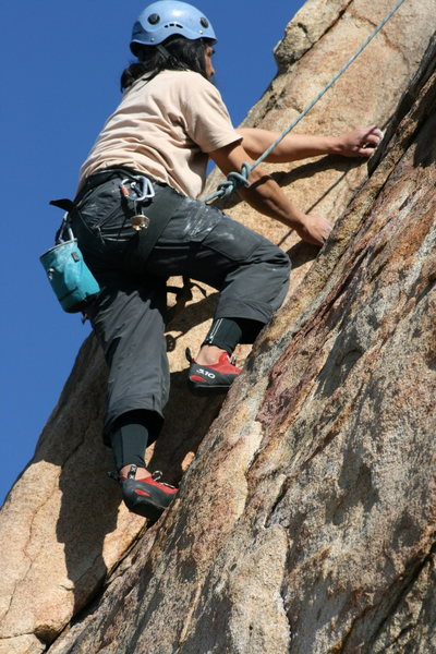 Rock Climbing Photo: Al on the Waterchute. 1-24-10