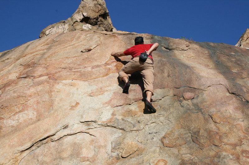 Rock Climbing Photo: Eric O right of Power Pak. 1-24-10