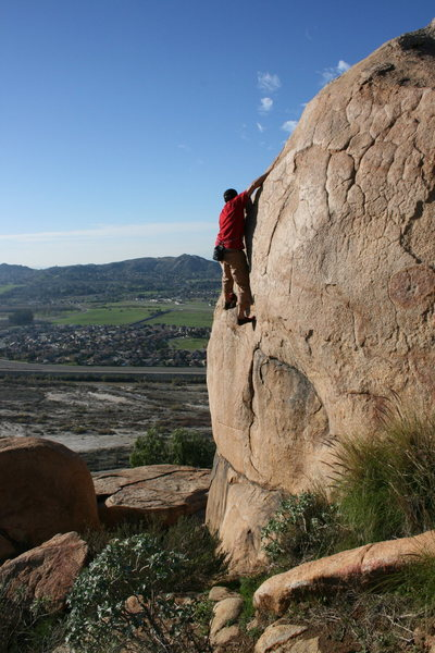 Rock Climbing Photo: Eric O on Trapeze. 1-24-10