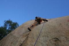 Rock Climbing Photo: Eric O on Hardy Boy Crack. 1-24-10