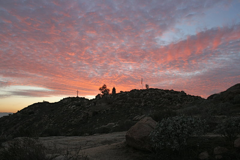 Rock Climbing Photo: Beautiful sunset. 1-24-10