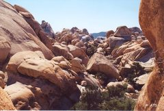 Rock Climbing Photo: Looking back from the short 5th class climb into t...