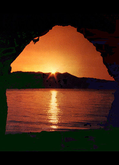 Rock Climbing Photo: A slightly manipulated shot from Cave Rock, Tahoe....