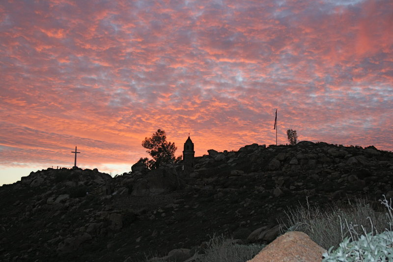 Rock Climbing Photo: Sunset 1-24-10