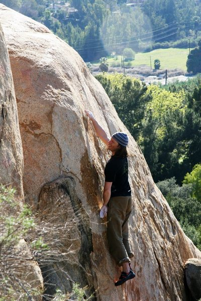 Rock Climbing Photo: Getting established on Bugger Any Which Way You Ca...