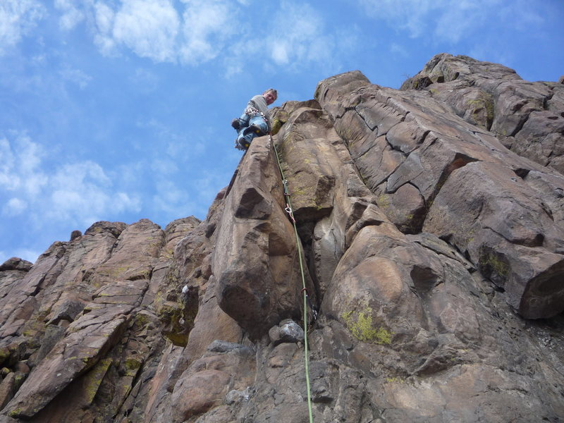 The climber is just above the best part.  The line is now basically Henry Spies the Line.