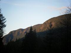 cliffs at bunzten lake