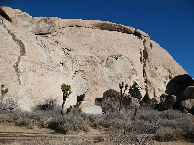 Rock Climbing Photo: Fun in the sun on a January day, Joshua Tree NP