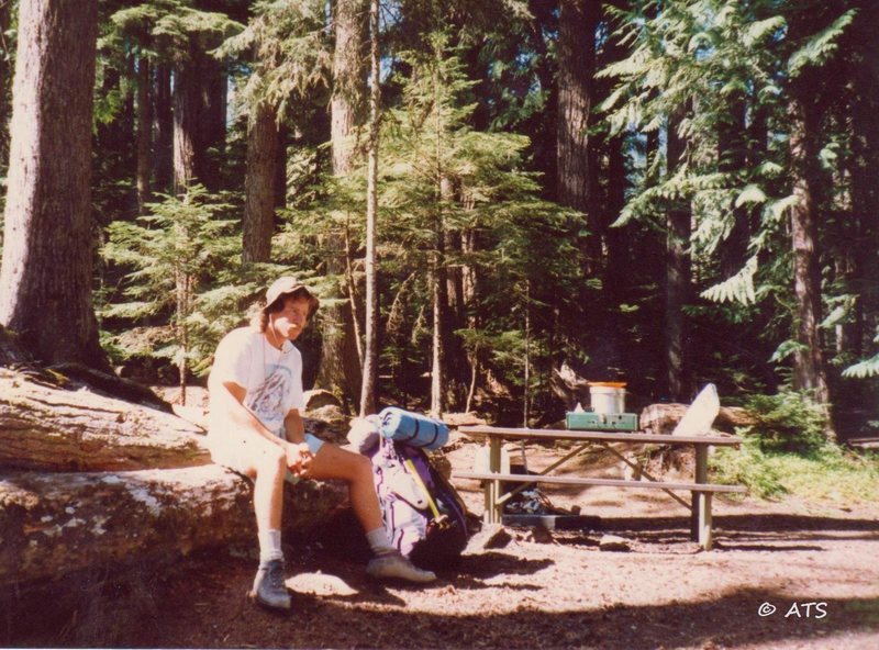 Hanging out in a campground before heading into the Olympics