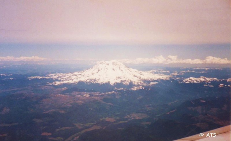 Mt. Rainer from the jet
