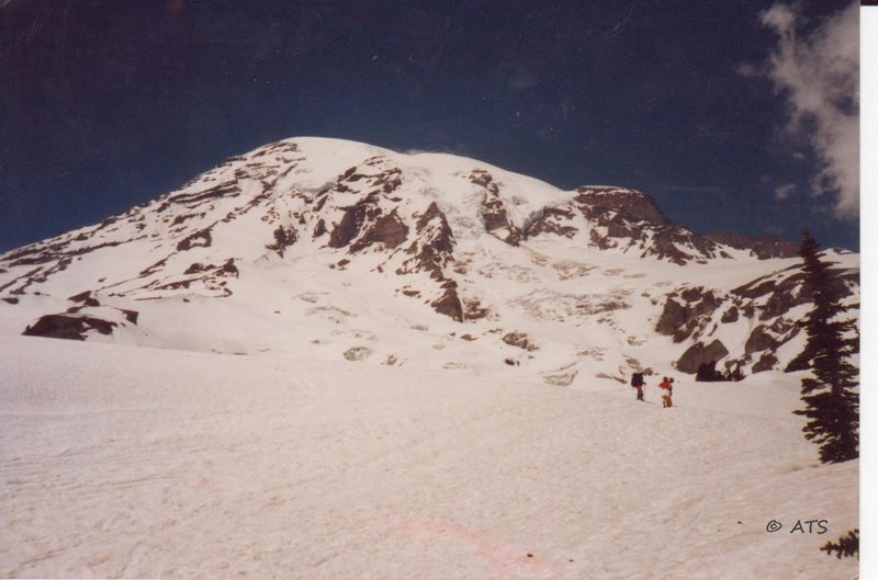 Rock Climbing Photo: The slog up Rainer