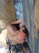 Rock Climbing Photo: Staring at the next few moves