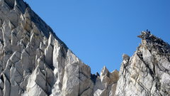 Rock Climbing Photo: Party just before the rappel, North Ridge of Conne...