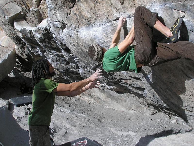 Rock Climbing Photo: Max getting tendonitis.