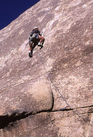 """Rock Climbing Photo: George Armstrong on """"Dimpled Chad"""". Phot..."""