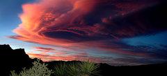 Rock Climbing Photo: Red Rocks sunset. Photo by Blitzo.
