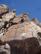 Rock Climbing Photo: Taking a TR on the Virus Variation.