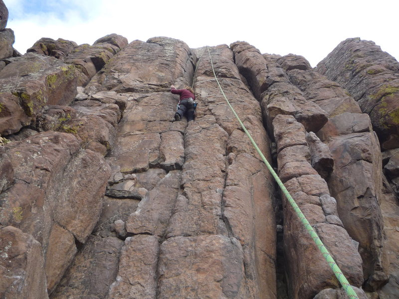 CM enjoying the nice crack squeezed between bolt lines.