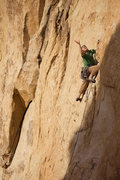 Rock Climbing Photo: Caughtinside tossing out a green alien, moments be...