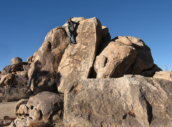 Sally standing around at the Forgotten Boulders.<br> Photo by Locker.