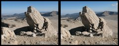 "Rock Climbing Photo: This is a cross-eye stereogram of a rock ""too..."